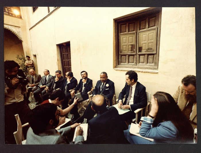 Visita Director General UNESCO 1981 c Casa Zafra