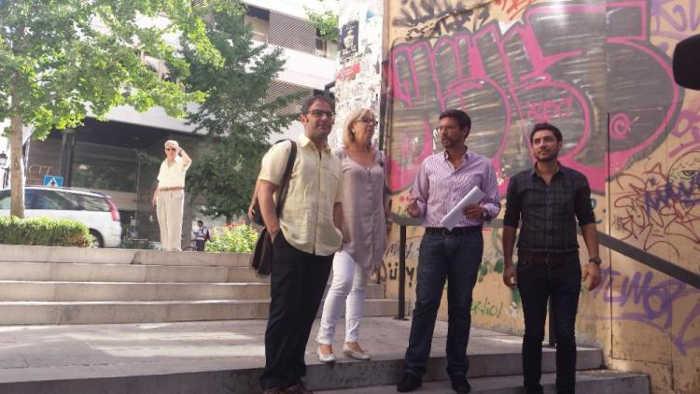 Concejales del PSOE visitan la zona de Almona del Boquerón.