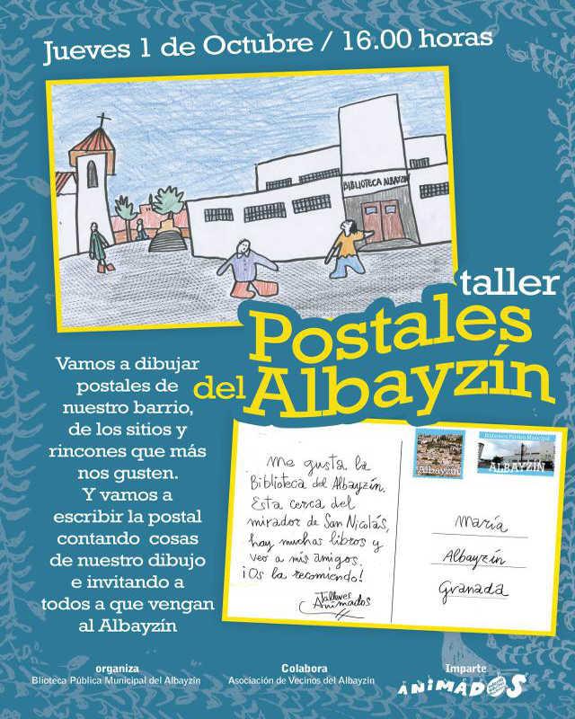taller postales 2015 biblioteca