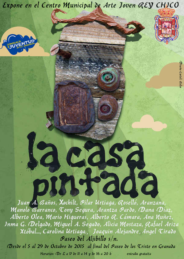Cartel  exposicion Rey Chico La casa pintada