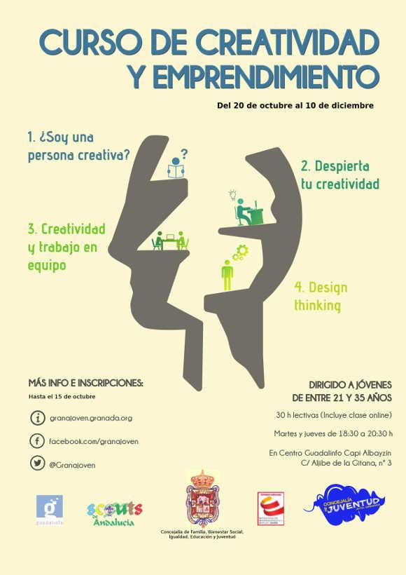 cartel taller creatividad y emprendimiento 2015
