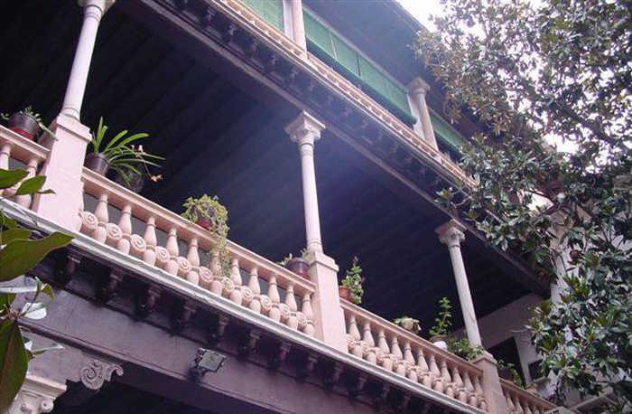 Patio de la casa Ágreda ubicada en el barrio del Albaicín, en Granada / Plataforma pro casa Ágreda