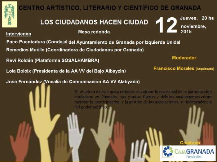 cartel debate Ciudaddanos hacen ciudad 2015