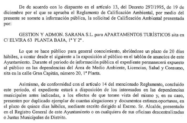 Calificacion ambiental Elvira 63 2015