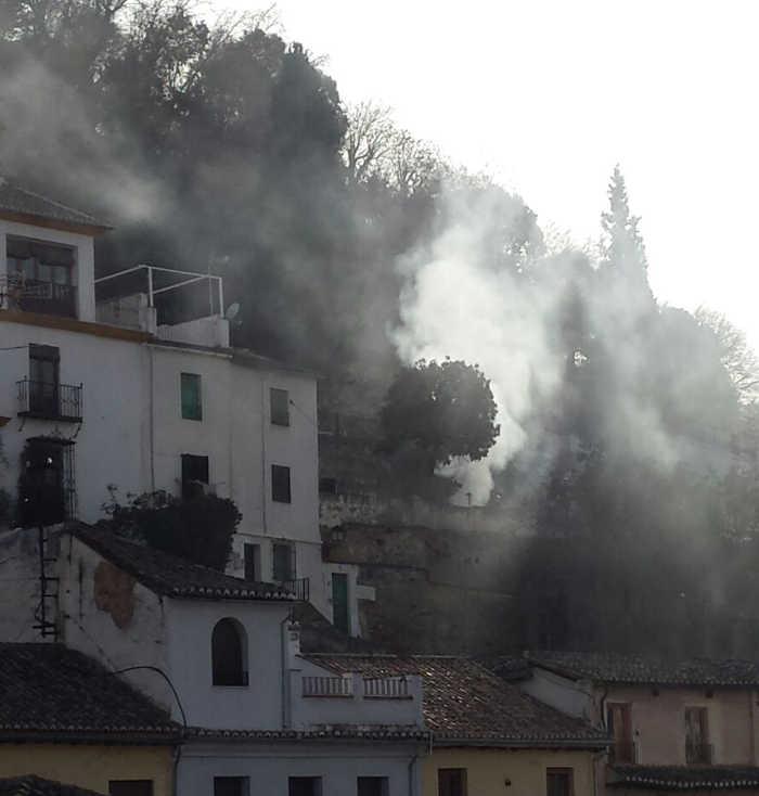 humareda en La Churra 20151216 a