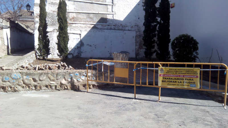 Obras placeta callejon del Gallo 20160310  a