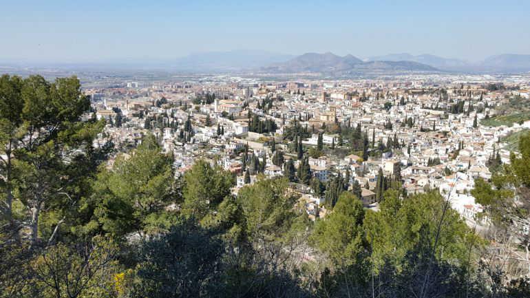 Vista del Albayzin desde la Silla del Moro RG 2016