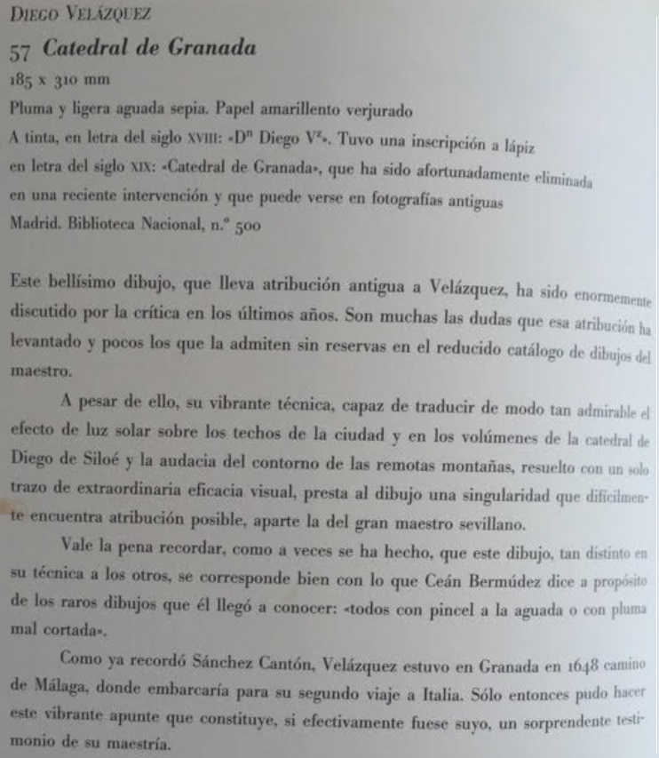 catedral de Granada 1648 Velazquez texto