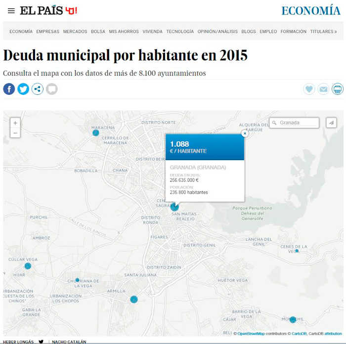 deuda municipal Granada 2015