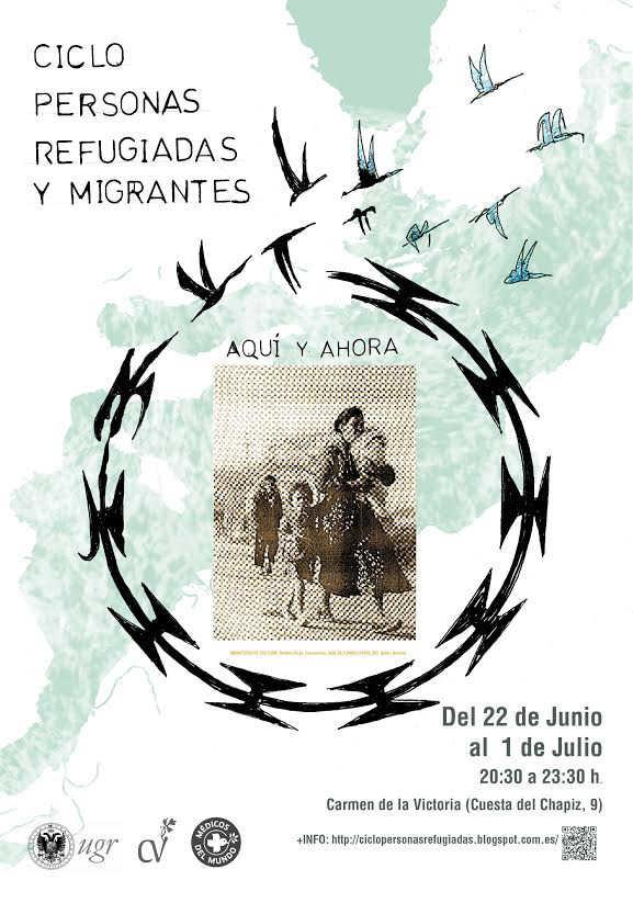 cartel ciclo refugiados carmen de la Victoria 2016