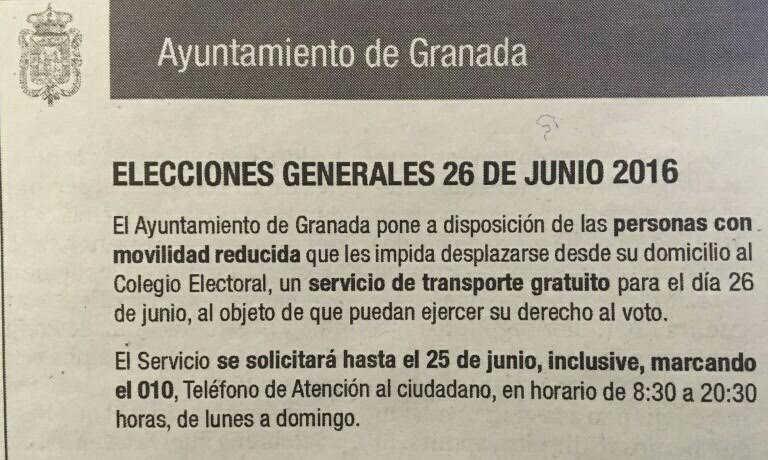 transporte elecciones 2016