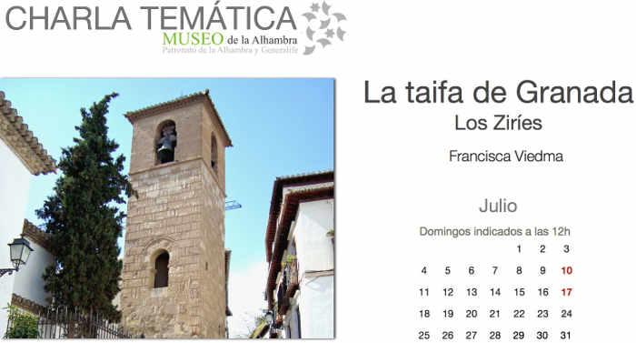 charlas Museo Alhambra Los ziries