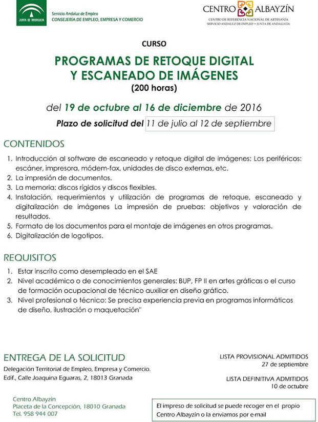 curso Centro Albayzin 2016 retoque digital