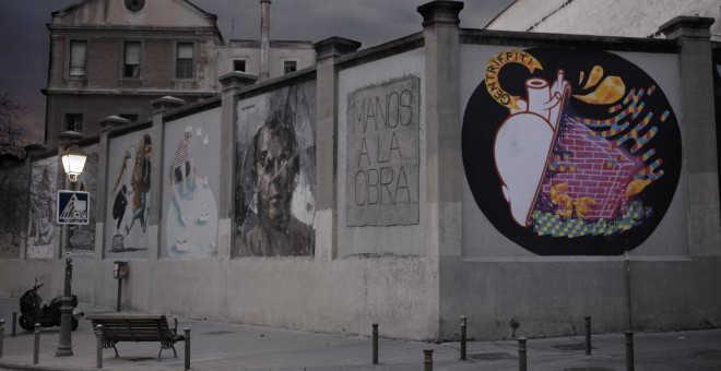 Murales de graffiti en el madrileño barrio de Lavapiés.- A.B